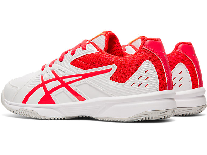 Front Left view of COURTSLIDE CLAY GS, WHITE/LASER PINK