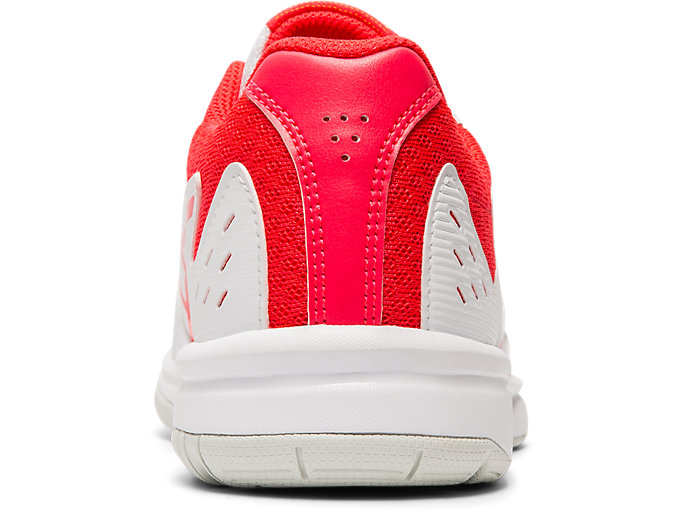 Back view of COURT SLIDE GS, WHITE/LASER PINK