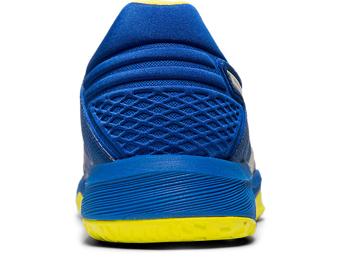 Back view of NETBURNER BALLISTIC FF, ASICS BLUE/SILVER