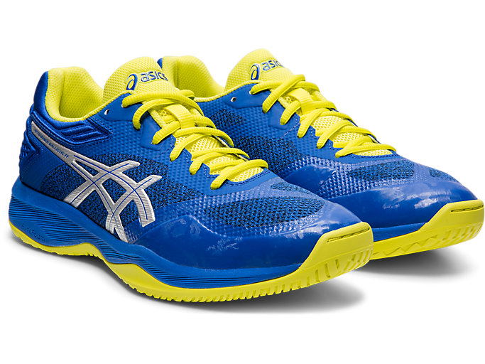 Front Right view of NETBURNER BALLISTIC FF, ASICS BLUE/SILVER