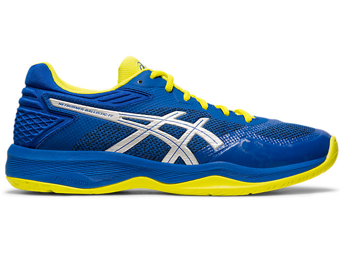 Right side view of NETBURNER BALLISTIC FF, ASICS BLUE/SILVER