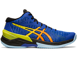 Right side view of SKY ELITE™ FF MT, ASICS BLUE/SOUR YUZU