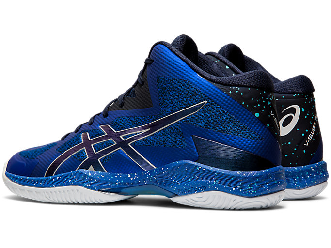 Front Left view of V-SWIFT FF MT AWC, ASICS BLUE/MIDNIGHT