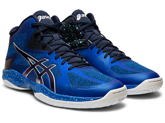 Front Right view of V-SWIFT FF MT AWC, ASICS BLUE/MIDNIGHT