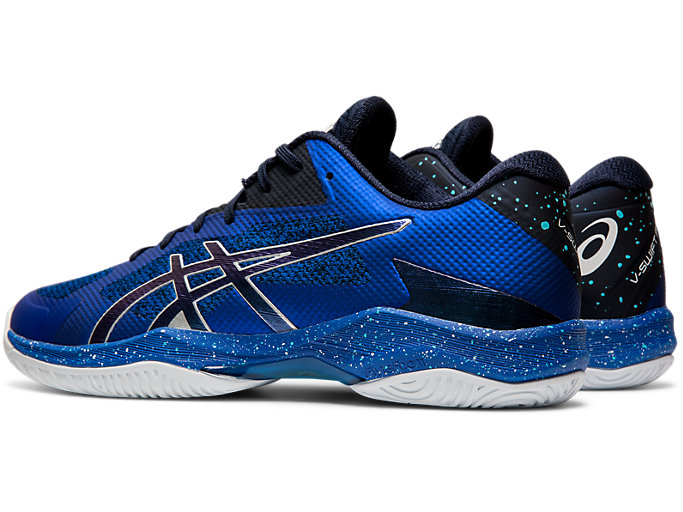 Front Left view of V-SWIFT FF AWC, ASICS BLUE/MIDNIGHT