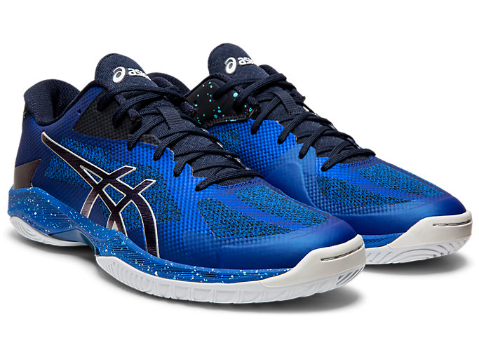 Front Right view of V-SWIFT FF AWC, ASICS BLUE/MIDNIGHT