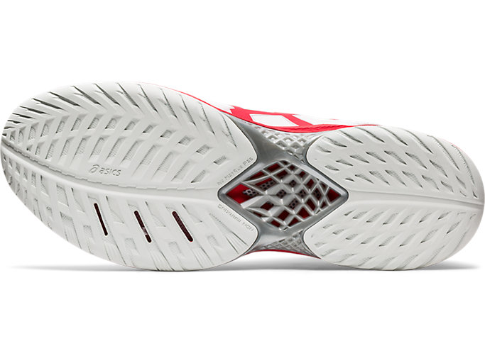 Bottom view of V-SWIFT FF MT 2, WHITE/CLASSIC RED