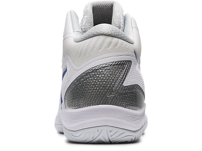 Back view of GELHOOP V12, WHITE/ASICS BLUE