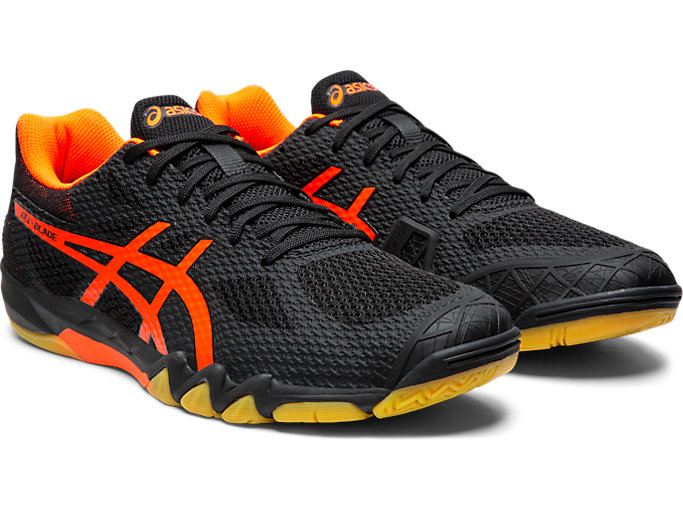 Men's GEL BLADE™ 7 | BLACKSHOCKING ORANGE | Squash i