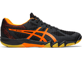 Right side view of GEL-BLADE™ 7, BLACK/SHOCKING ORANGE