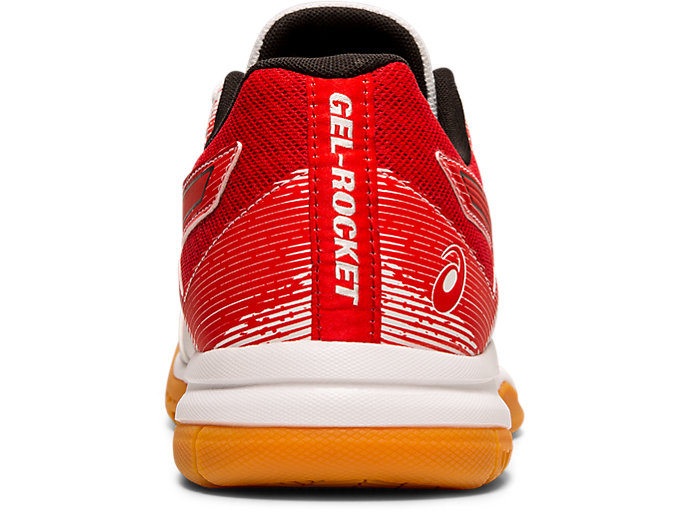 Back view of GEL-ROCKET™ 9, WHITE/CLASSIC RED
