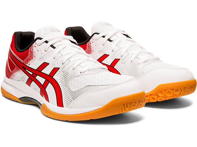 Front Right view of GEL-ROCKET™ 9, WHITE/CLASSIC RED