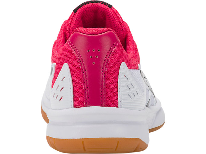 Back view of UPCOURT 3, WHITE/PIXEL PINK