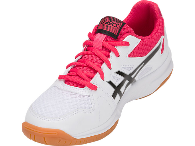 Front Left view of UPCOURT 3, WHITE/PIXEL PINK