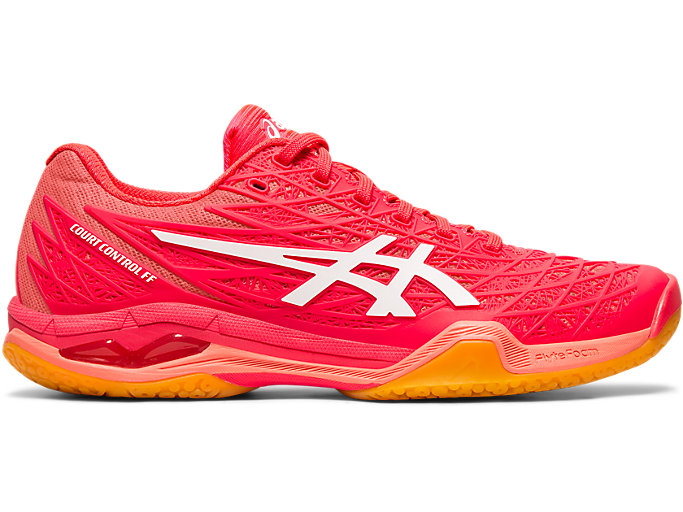 Right side view of COURT CONTROL FF, LASER PINK/WHITE