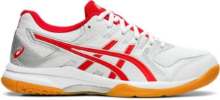 womens red asics running shoes
