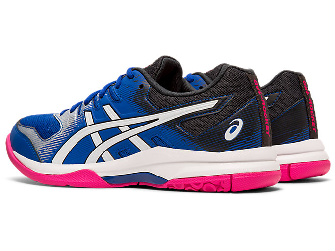 Front Left view of GEL-ROCKET™ 9, ASICS BLUE/WHITE