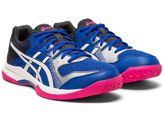 Front Right view of GEL-ROCKET™ 9, ASICS BLUE/WHITE
