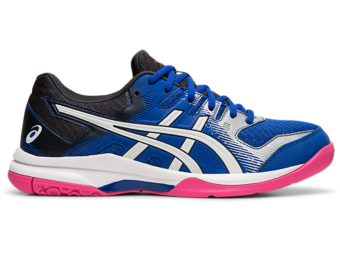 Right side view of GEL-ROCKET™ 9, ASICS BLUE/WHITE
