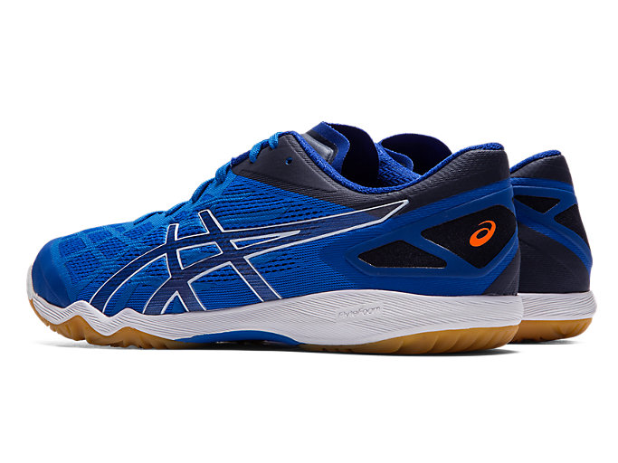 Front Left view of ATTACK DOMINATE FF 2, ASICS BLUE/PURE SILVER