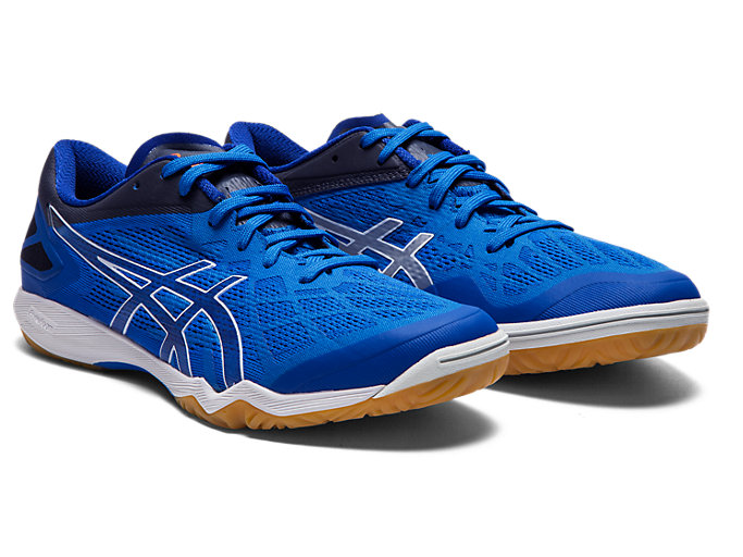 Front Right view of ATTACK DOMINATE FF 2, ASICS BLUE/PURE SILVER