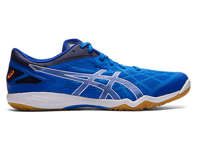 Right side view of ATTACK DOMINATE FF 2, ASICS BLUE/PURE SILVER