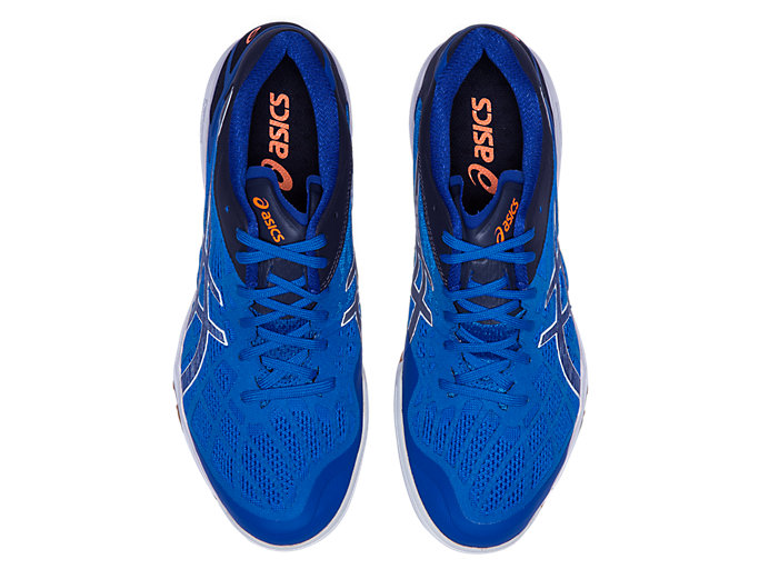Top view of ATTACK DOMINATE FF 2, ASICS BLUE/PURE SILVER