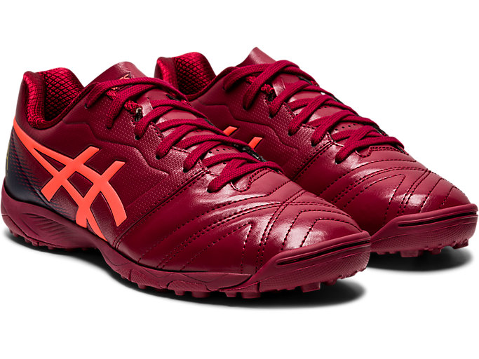 Front Right view of ULTREZZA AI GS TF, BURGUNDY/FLASH CORAL