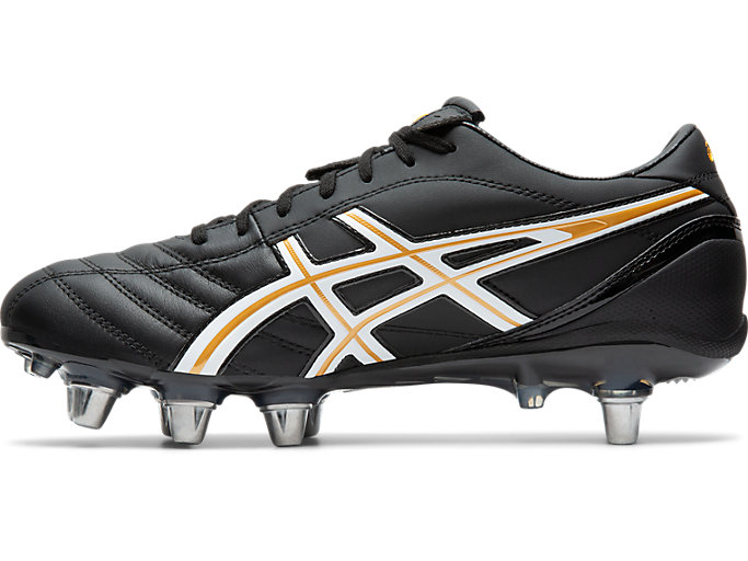 Left side view of LETHAL WARNO ST 2, BLACK/PURE GOLD