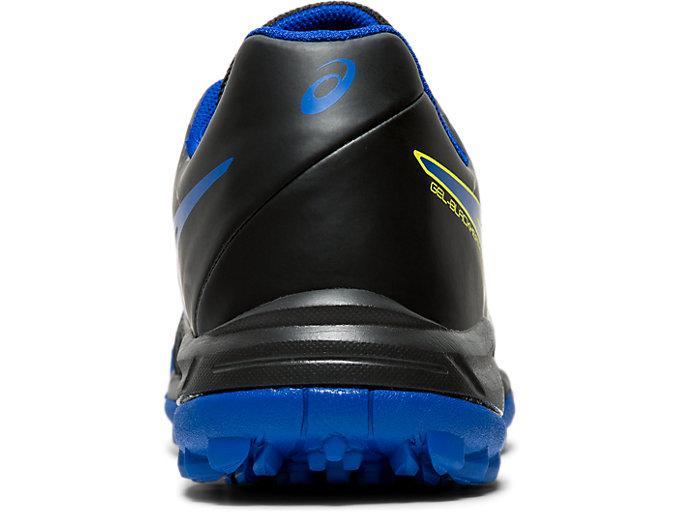 Back view of GEL-BLACKHEATH 7 GS, BLACK/ASICS BLUE