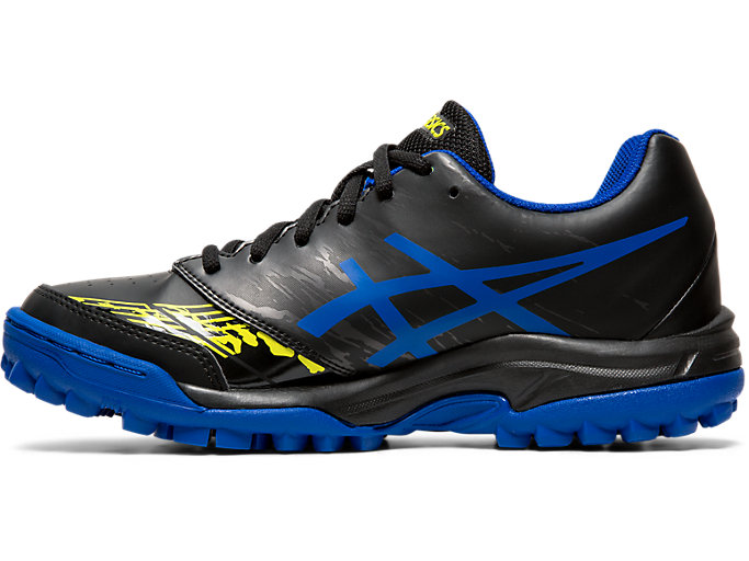 Left side view of GEL-BLACKHEATH 7 GS, BLACK/ASICS BLUE