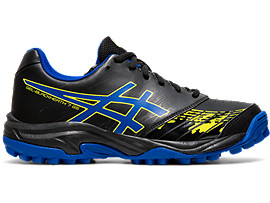 Right side view of GEL-BLACKHEATH 7 GS, BLACK/ASICS BLUE