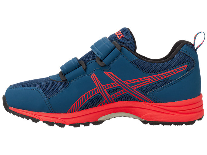 Left side view of GELRUNNER®G-TX Jr. 2, ダークネイビー×フラッシュレッド
