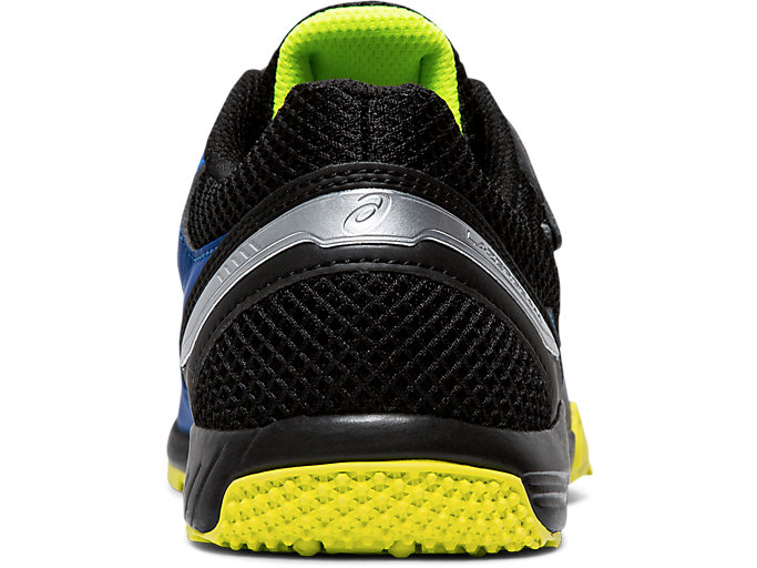 Back view of LAZERBEAM® SD-MG, ASICS BLUE/SAFETY YELLOW