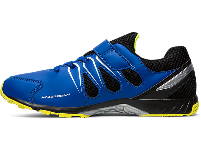 Left side view of LAZERBEAM® SD-MG, ASICS BLUE/SAFETY YELLOW