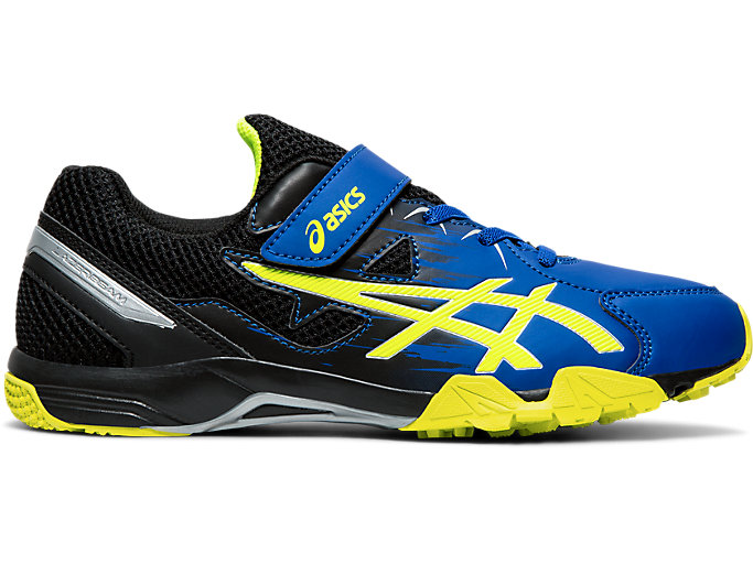 Right side view of LAZERBEAM® SD-MG, ASICS BLUE/SAFETY YELLOW