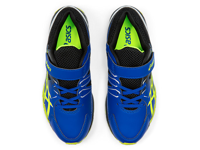 Top view of LAZERBEAM® SD-MG, ASICS BLUE/SAFETY YELLOW