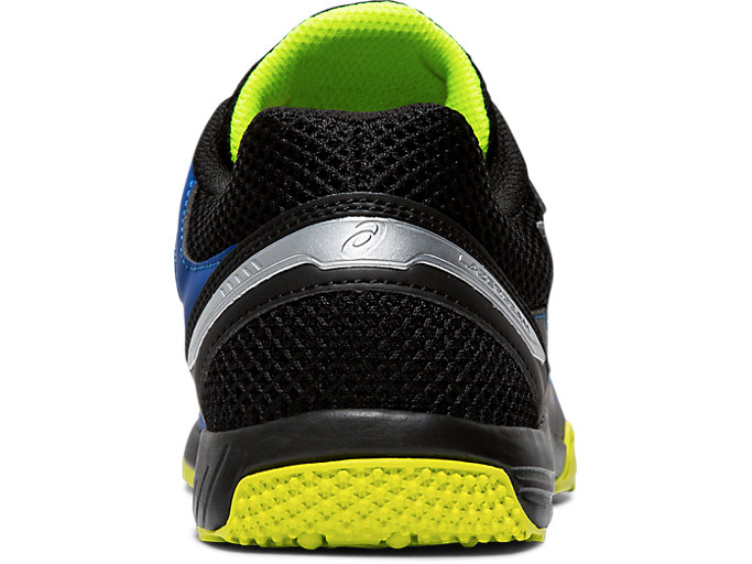 Back view of LAZERBEAM® SD, ASICS BLUE/SAFETY YELLOW
