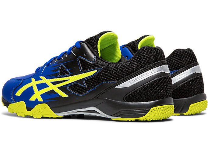 Front Left view of LAZERBEAM® SD, ASICS BLUE/SAFETY YELLOW