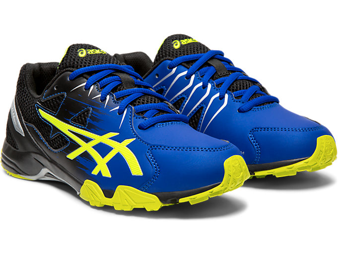 Front Right view of LAZERBEAM® SD, ASICS BLUE/SAFETY YELLOW
