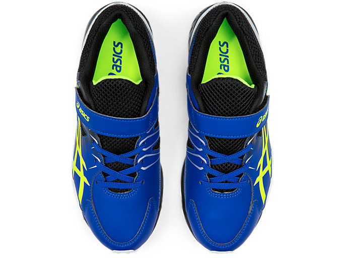 Top view of LAZERBEAM® SD-MG-W, ASICS BLUE/SAFETY YELLOW