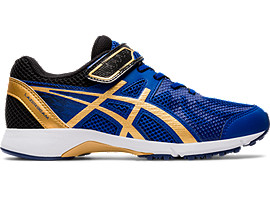 Right side view of LAZERBEAM® RE-MG, ASICS BLUE/PURE GOLD