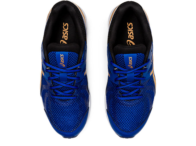 Top view of LAZERBEAM® RE, ASICS BLUE/PURE GOLD