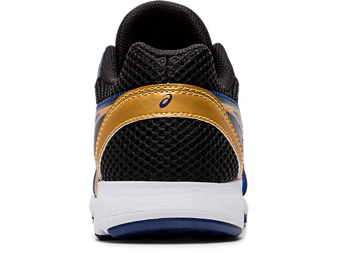 Back view of LAZERBEAM® RE, ASICS BLUE/PURE GOLD