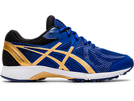 Right side view of LAZERBEAM® RE, ASICS BLUE/PURE GOLD