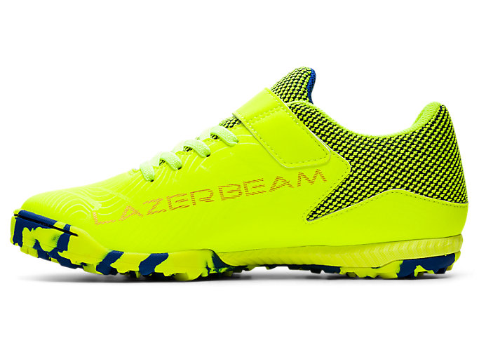 Left side view of LAZERBEAM® FE-MG, SAFETY YELLOW/MONACO BLUE