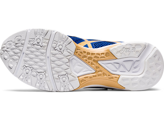 Bottom view of LAZERBEAM® RE-MG-W, ASICS BLUE/PURE GOLD