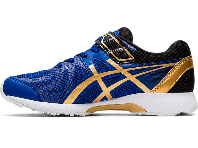 Left side view of LAZERBEAM® RE-MG-W, ASICS BLUE/PURE GOLD