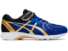 Right side view of LAZERBEAM® RE-MG-W, ASICS BLUE/PURE GOLD