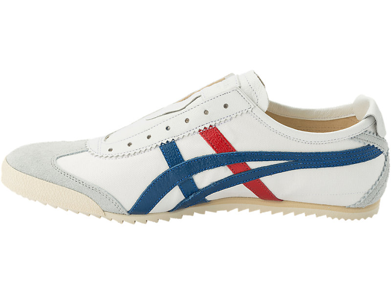 MEXICO SLIP-ON DELUXE WHITE/ASICS BLUE 13 LT